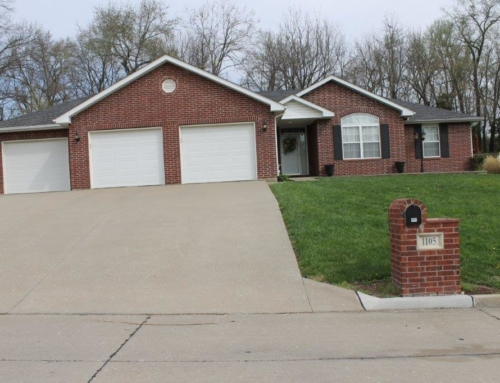 1105 Grace Lane, Boonville, MO  $197,000.00  Wonderful location on one level.  SOLD 2017….