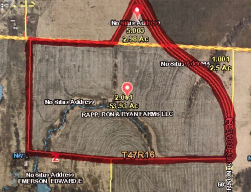LAND AUCTION…57-Acres, m/l, on February 17, 2018 @10:00 am     ON CONTRACT…..