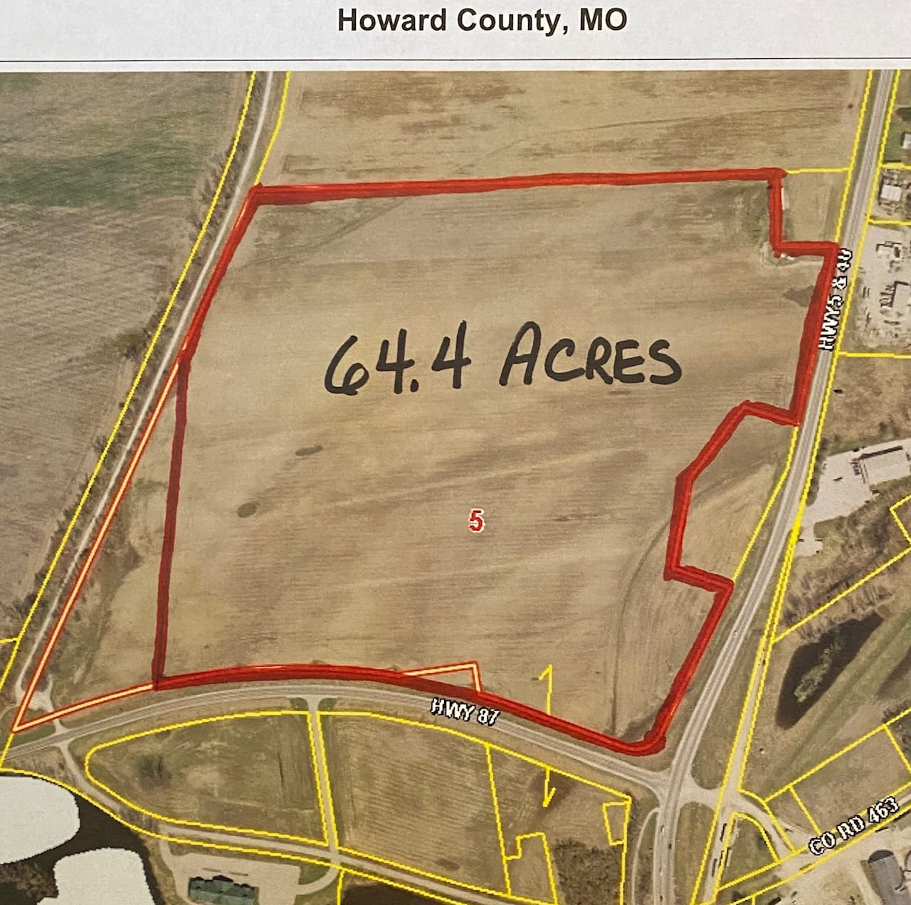 SOLD 2020…LAND AUCTION ….March 18, 2020 @ 10:00 a.m.  64.4 Acres m/l of good river bottom farm land.
